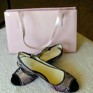 NIB Franco Sarto pink singed-back shoes